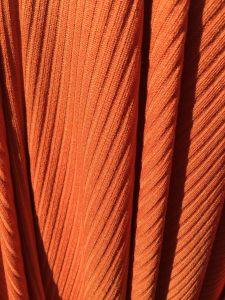 imagem referente ao tecido de malha canelada laranja ref 1340k