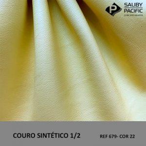 couro sintético 1/2 cor 22