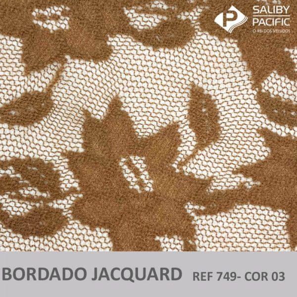 Imagem bordado Jacquard brush REF 749 cor 03