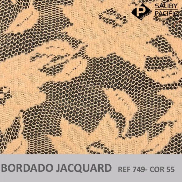 Imagem bordado Jacquard brush REF 749 cor 55