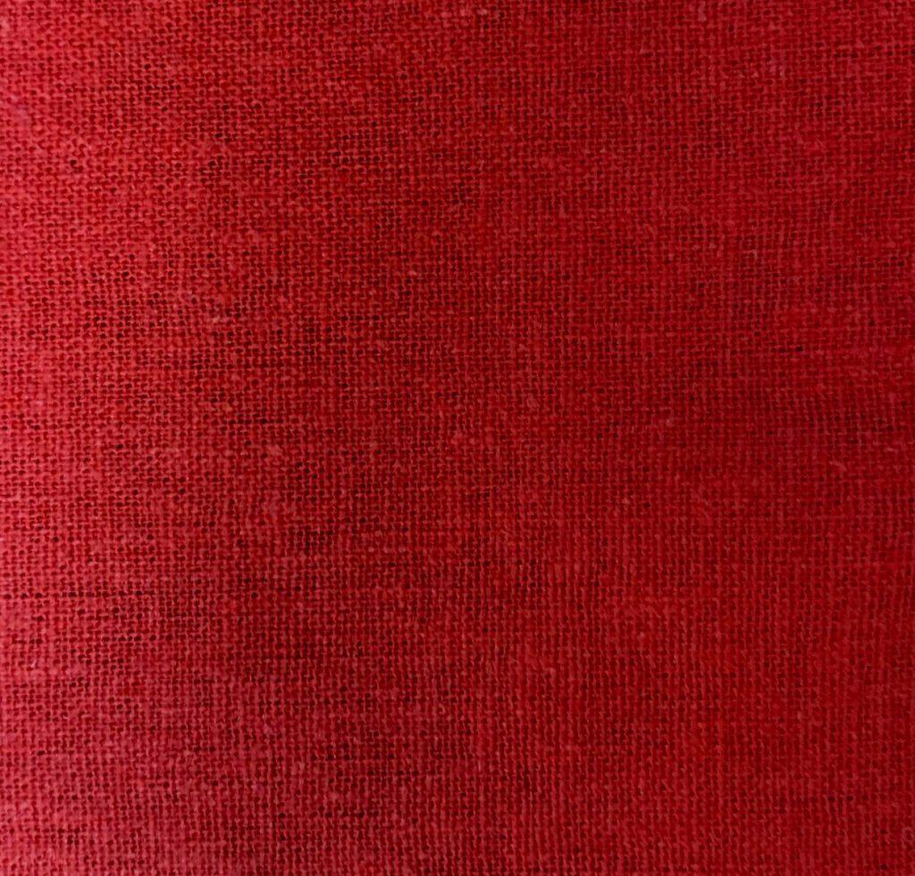 linho liso na cor vermelha