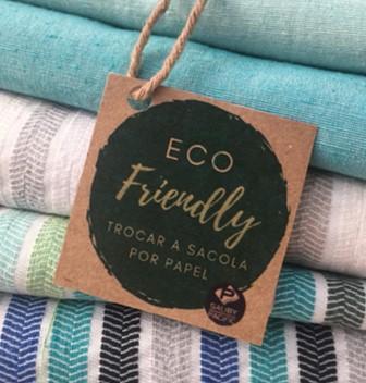 Responsabilidade Social: Imagem referente aos produtos sustentáveis da Saliby Pacific - Rei dos Veludos
