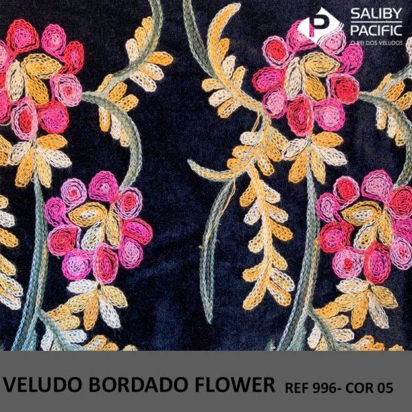 Imagem Veludo Bordado Flower referência 996 cor 05