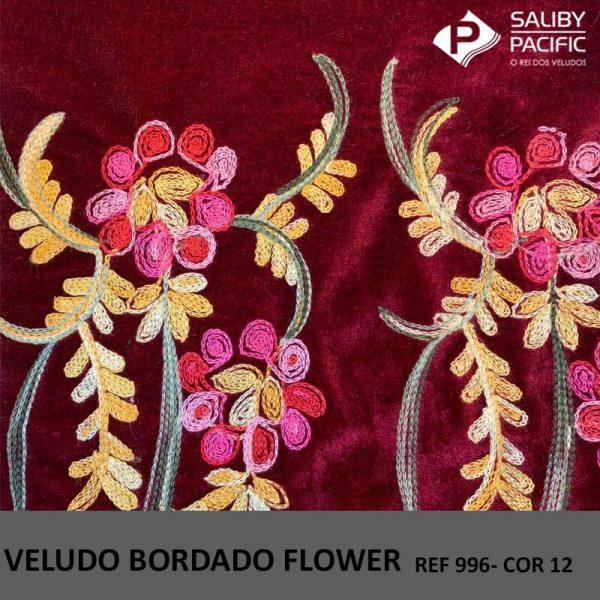 Imagem Veludo Bordado Flower referência 996 cor 12