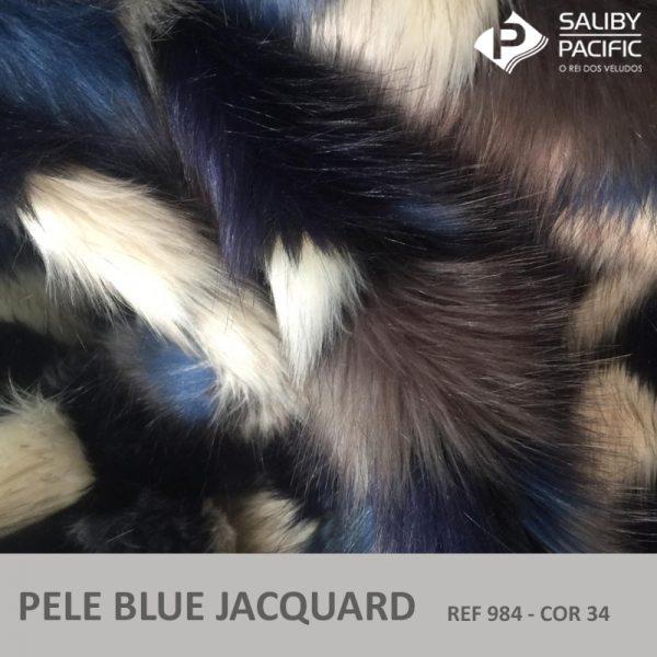 pele blue jacquard ref 984 na cor 34